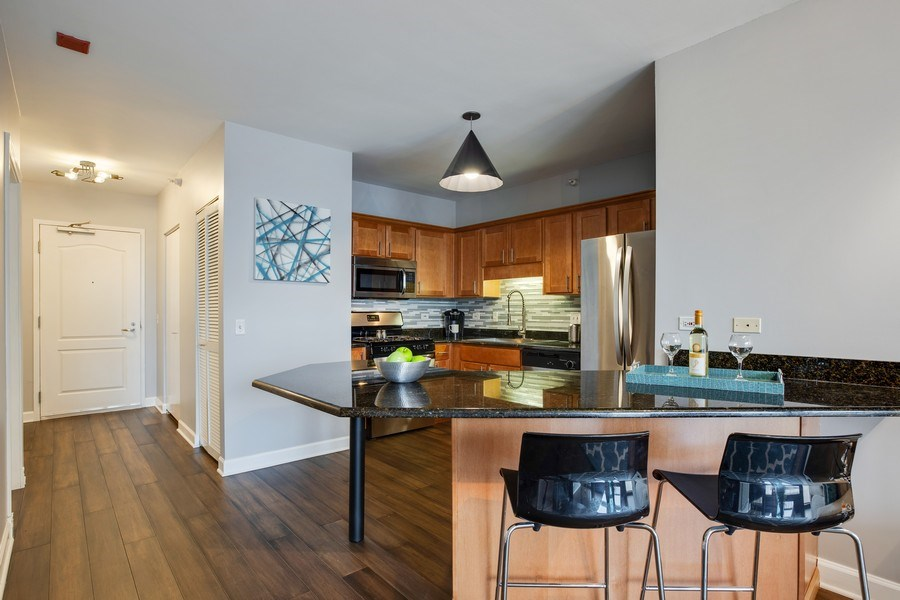 Real Estate Photography - 630 N State, Unit 2410, Chicago, IL, 60611 - Kitchen