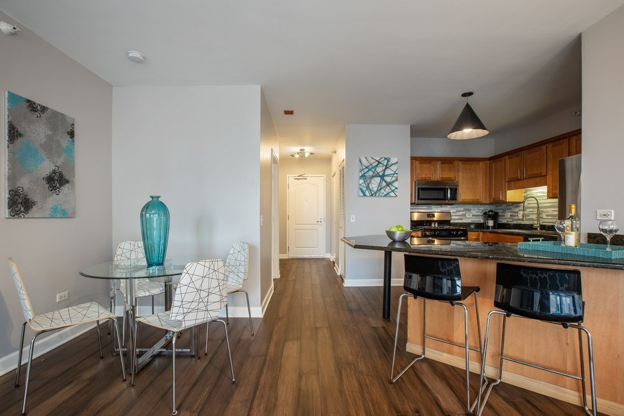 Real Estate Photography - 630 N State, Unit 2410, Chicago, IL, 60611 - Dining Area