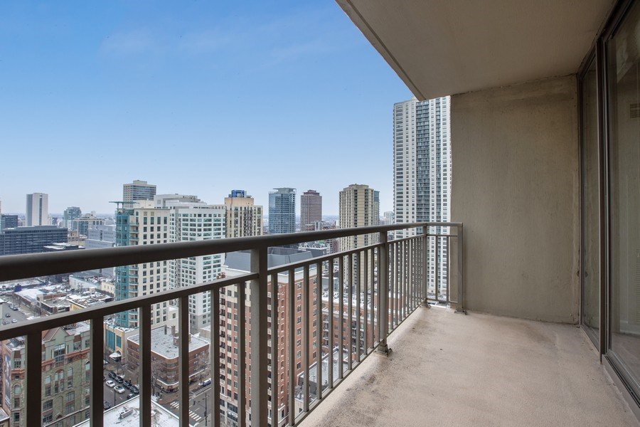 Real Estate Photography - 630 N State, Unit 2410, Chicago, IL, 60611 - Balcony