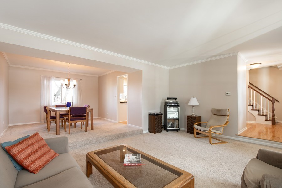 Real Estate Photography - 1716 Cedar Glen Ct, Libertyville, IL, 60048 - Living Room to Dining Room