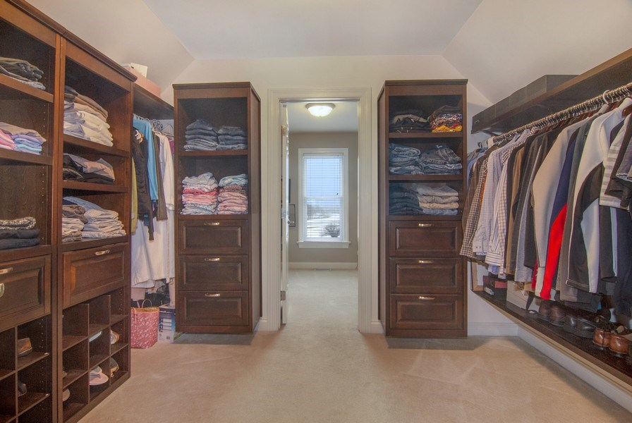 Real Estate Photography - 38W613 Clubhouse Dr, St Charles, IL, 60175 - Master Bedroom Closet