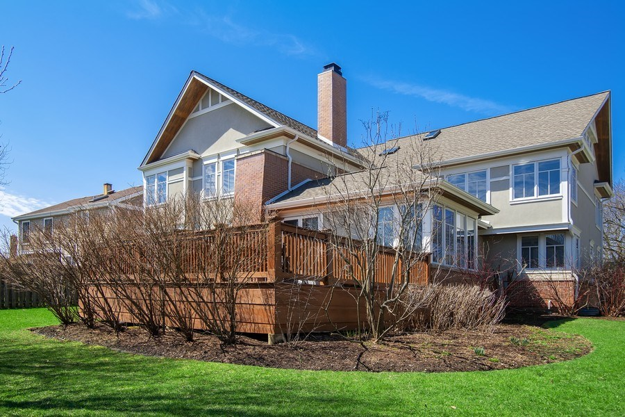 Real Estate Photography - 1509 E Eton Dr, Arlington Heights, IL, 60004 - Rear View