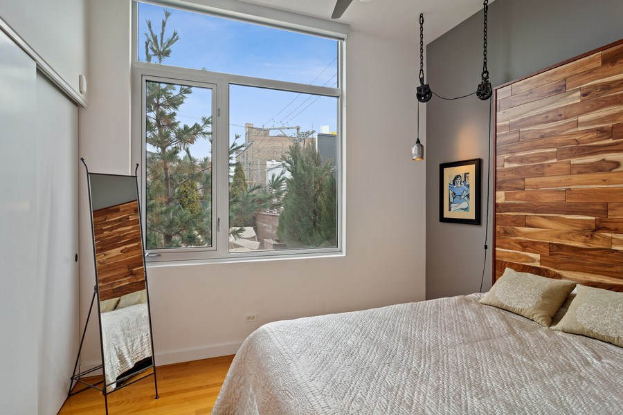 Real Estate Photography - 1615 N Wolcott, Unit 204, Chicago, IL, 60622 - 2nd Bedroom