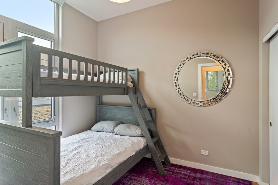 Real Estate Photography - 1615 N Wolcott, Unit 204, Chicago, IL, 60622 - 3rd Bedroom