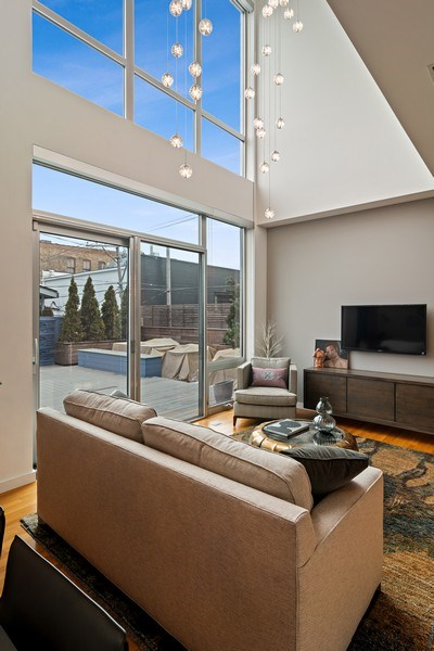 Real Estate Photography - 1615 N Wolcott, Unit 204, Chicago, IL, 60622 - Living Room