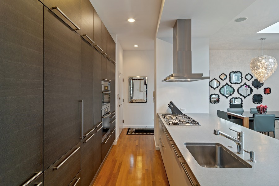 Real Estate Photography - 1615 N Wolcott, Unit 204, Chicago, IL, 60622 - Kitchen