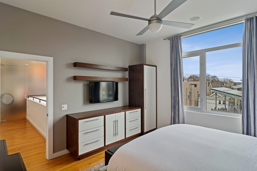 Real Estate Photography - 1615 N Wolcott, Unit 204, Chicago, IL, 60622 - Master Bedroom