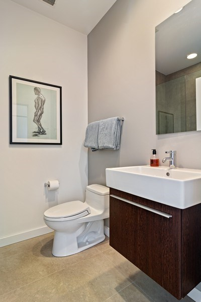 Real Estate Photography - 1615 N Wolcott, Unit 204, Chicago, IL, 60622 - Bathroom