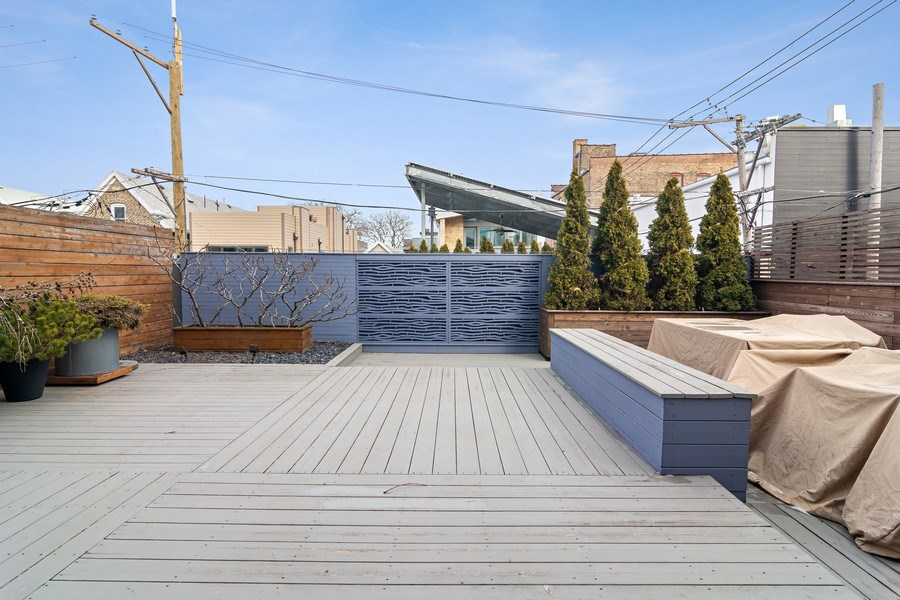 Real Estate Photography - 1615 N Wolcott, Unit 204, Chicago, IL, 60622 - Deck