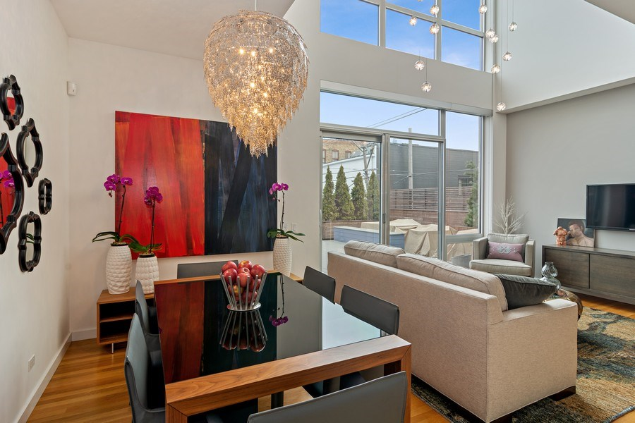 Real Estate Photography - 1615 N Wolcott, Unit 204, Chicago, IL, 60622 - Living Room / Dining Room