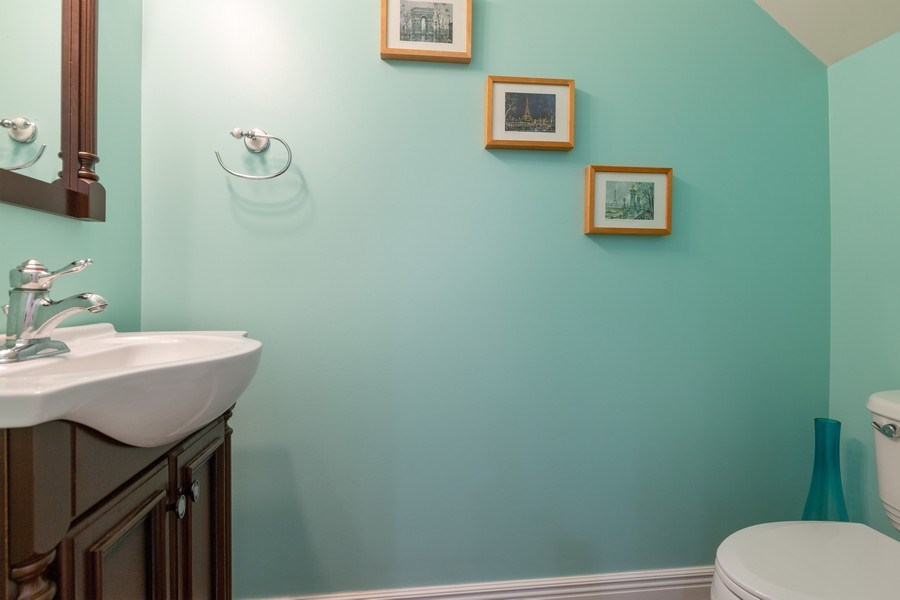 Real Estate Photography - 1117 Chelsea, Lake Zurich, IL, 60047 - Powder Room