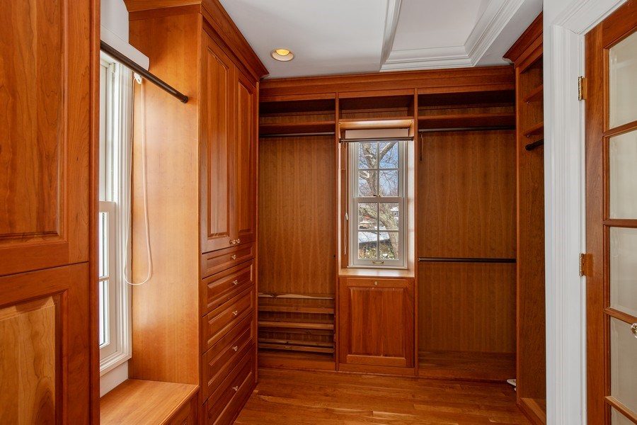 Real Estate Photography - 508 Ryan Place, lake forest, IL, 60045 - Master Bedroom Closet