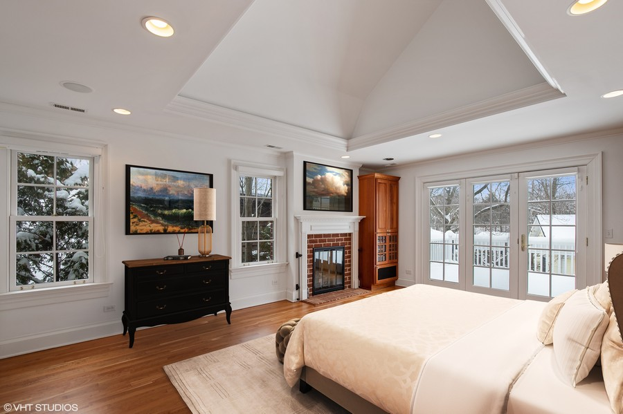 Real Estate Photography - 508 Ryan Place, lake forest, IL, 60045 - Virtually Staged Master Bedroom