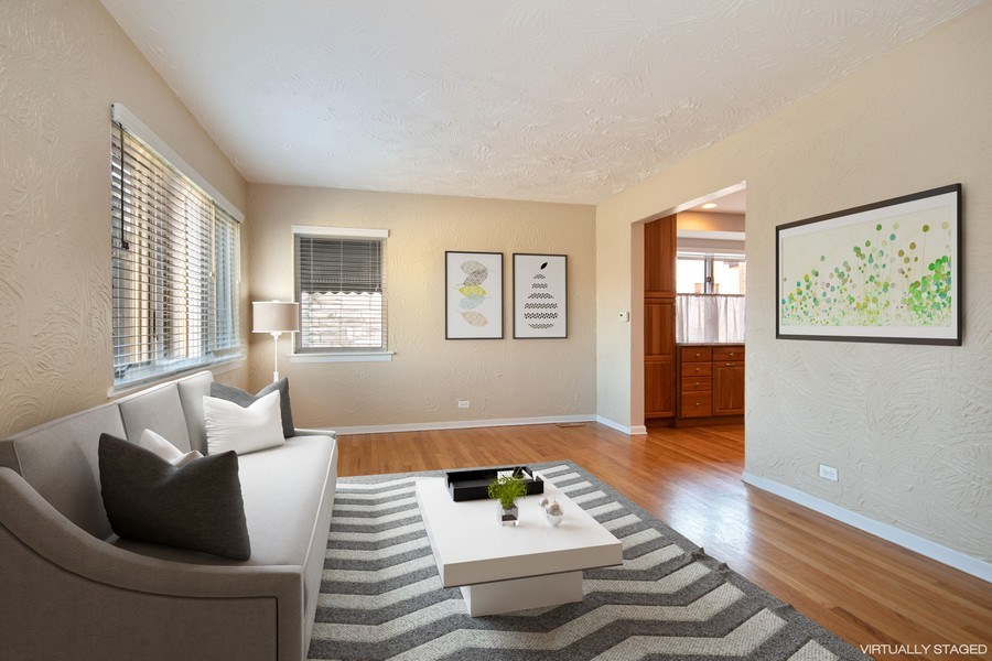 Real Estate Photography - 1231 N. Marion St., Oak Park, IL, 60302 - Living Room