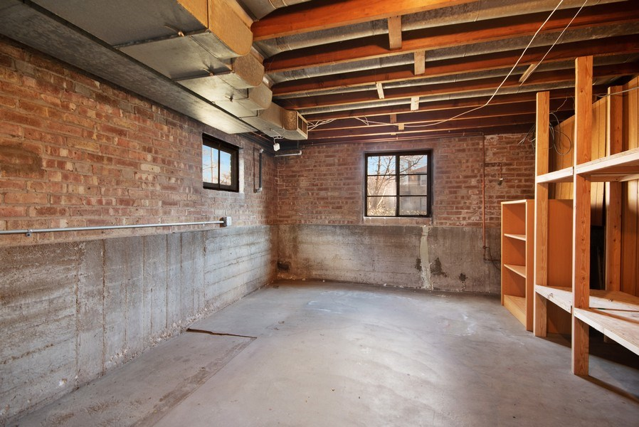 Real Estate Photography - 1231 N. Marion St., Oak Park, IL, 60302 - Lower Level Storage/Office