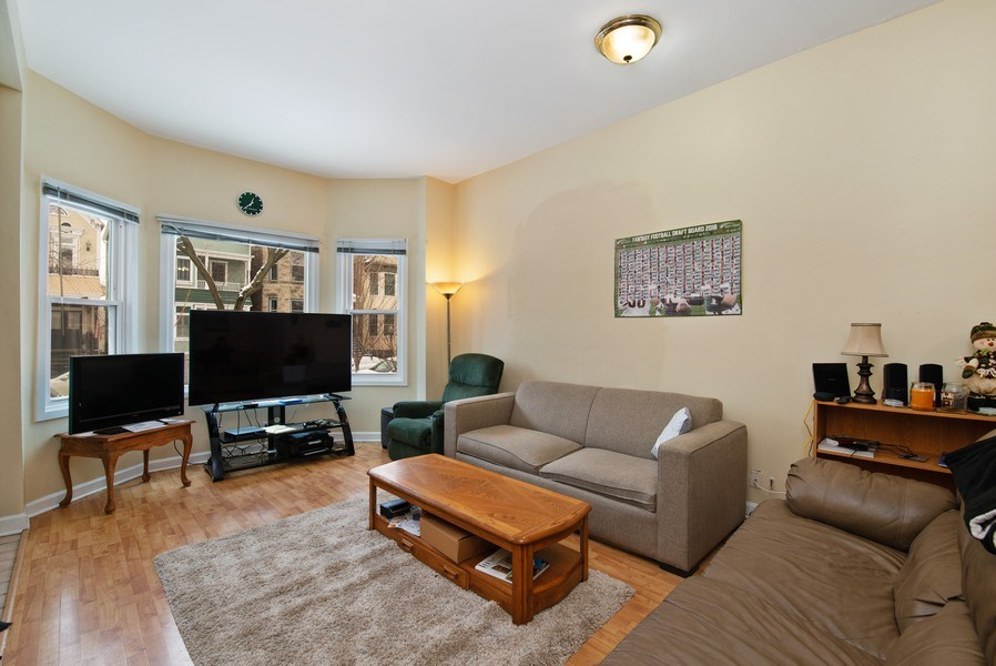 Real Estate Photography - 1116 W. George St., Chicago, IL, 60657 - Living Room