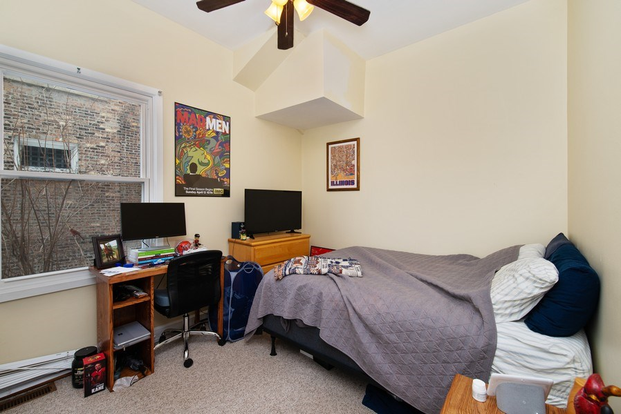 Real Estate Photography - 1116 W. George St., Chicago, IL, 60657 - Bedroom