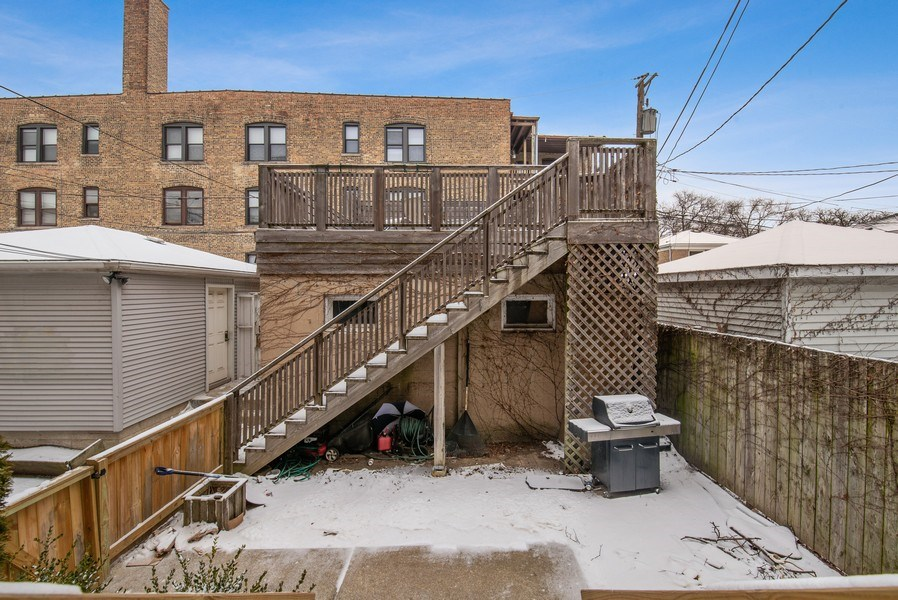 Real Estate Photography - 1116 W. George St., Chicago, IL, 60657 - Back Yard