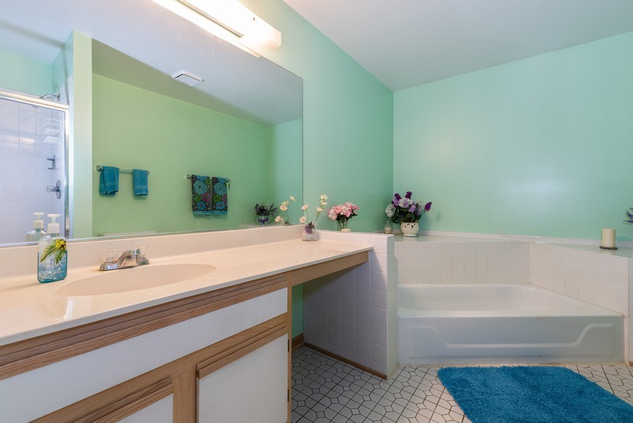 Real Estate Photography - 2129 Aberdeen Ct., Hanover Park, IL, 60133 - Master Bathroom