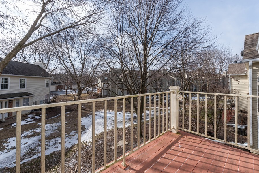 Real Estate Photography - 2129 Aberdeen Ct., Hanover Park, IL, 60133 - Balcony