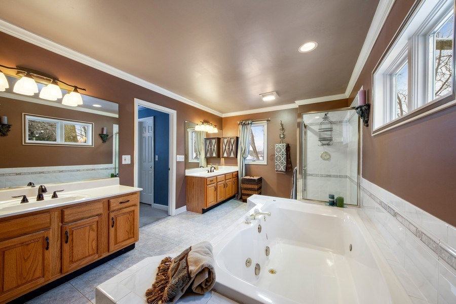 Real Estate Photography - 503 Tomah, Prospect Heights, IL, 60070 - Master Bathroom