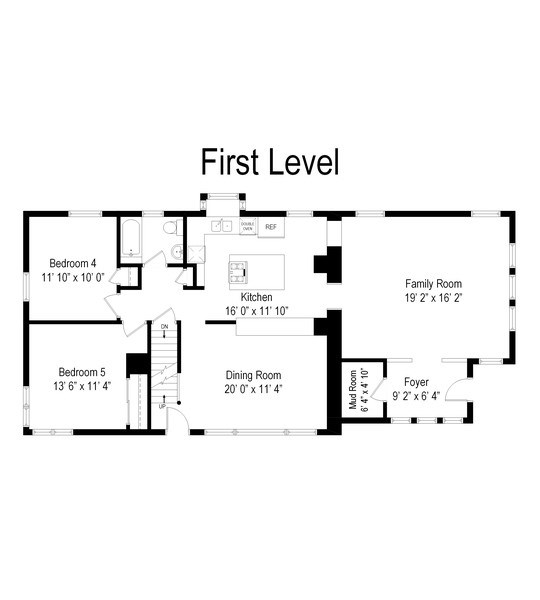 Real Estate Photography - 602 S Vail Ave, Arlington Heights, IL, 60005 - Floor Plan