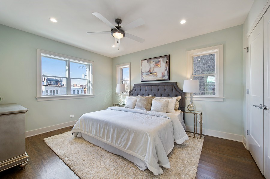 Real Estate Photography - 3828 N. Racine #2, Chicago, IL, 60613 - Master Bedroom
