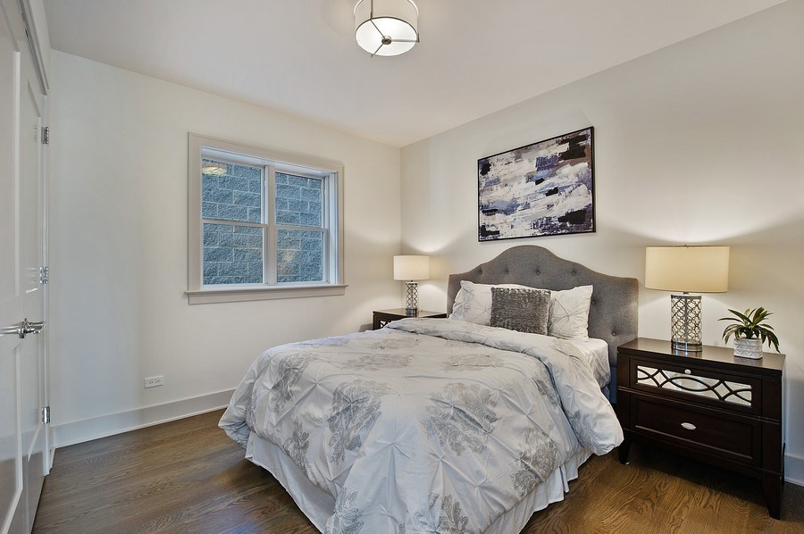 Real Estate Photography - 3828 N. Racine #2, Chicago, IL, 60613 - 2nd Bedroom