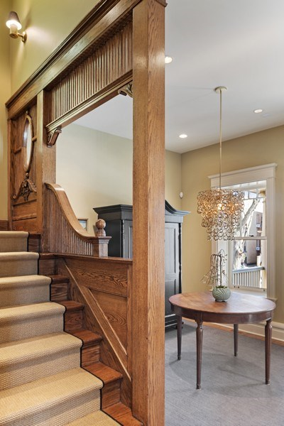 Real Estate Photography - 5402 North Magnolia, Chicago, IL, 60640 - Staircase