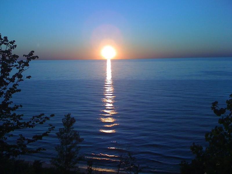 Real Estate Photography - 4486 Greenwood Drive, Benton Harbor, MI, 49022 - Lake Michigan Sunset 3