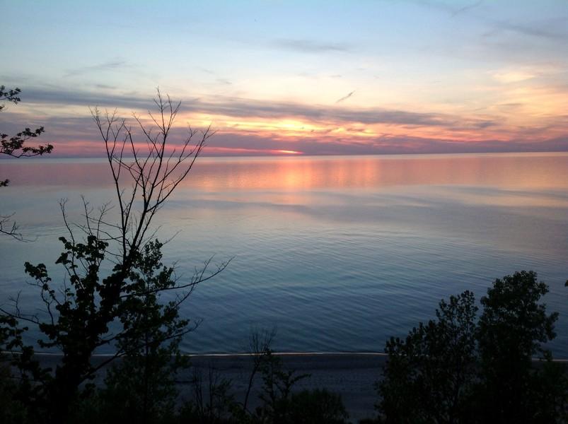 Real Estate Photography - 4486 Greenwood Drive, Benton Harbor, MI, 49022 - Lake Michigan Sunset 2