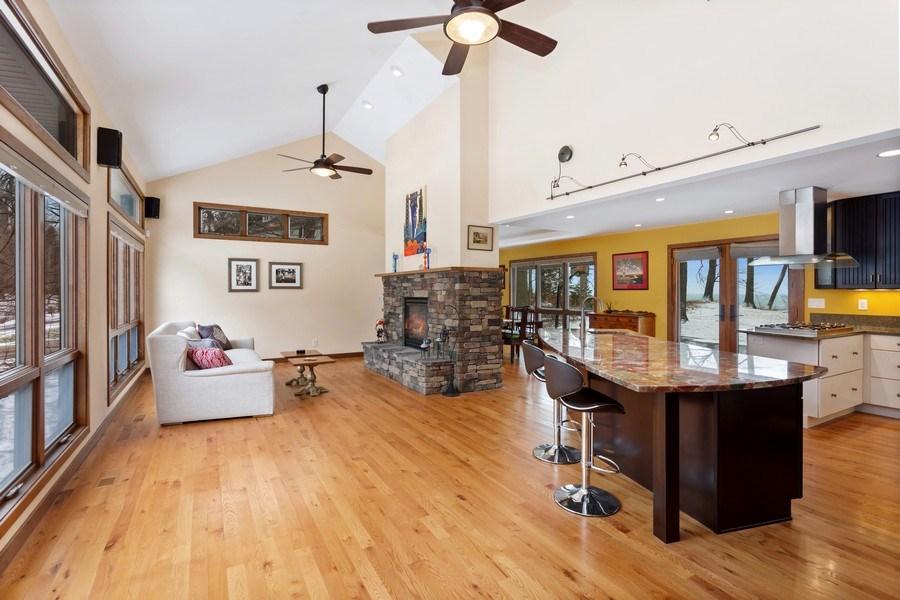 Real Estate Photography - 4486 Greenwood Drive, Benton Harbor, MI, 49022 - Living Room / Kitchen