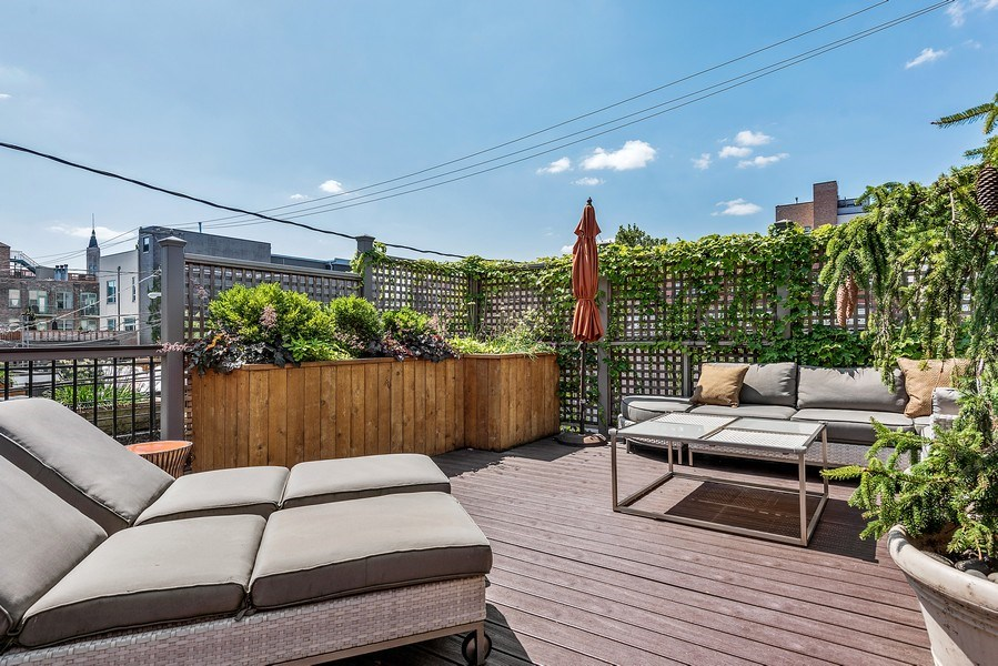 Real Estate Photography - 1734 N. Winchester Ave., Chicago, IL, 60622 - Roof Deck
