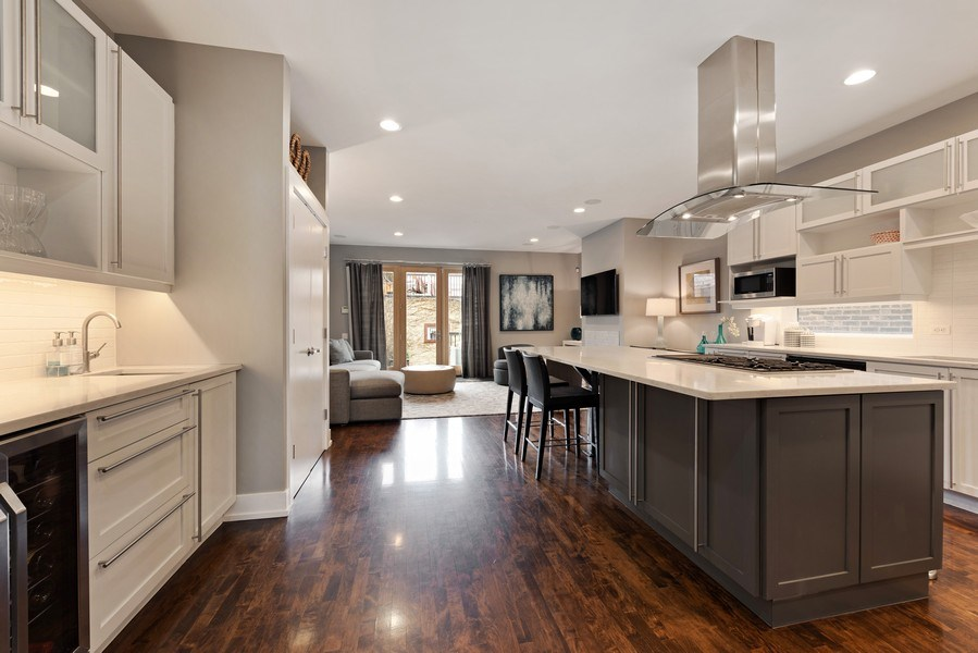 Real Estate Photography - 1734 N. Winchester Ave., Chicago, IL, 60622 - Family Room / Kitchen