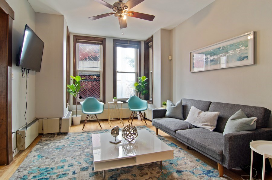 Real Estate Photography - 1625 N. Dayton St., Chicago, IL, 60614 - Unit 2- Living Room