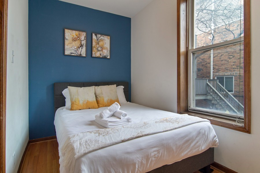 Real Estate Photography - 1625 N. Dayton St., Chicago, IL, 60614 - Unit 1 - 2nd Bedroom