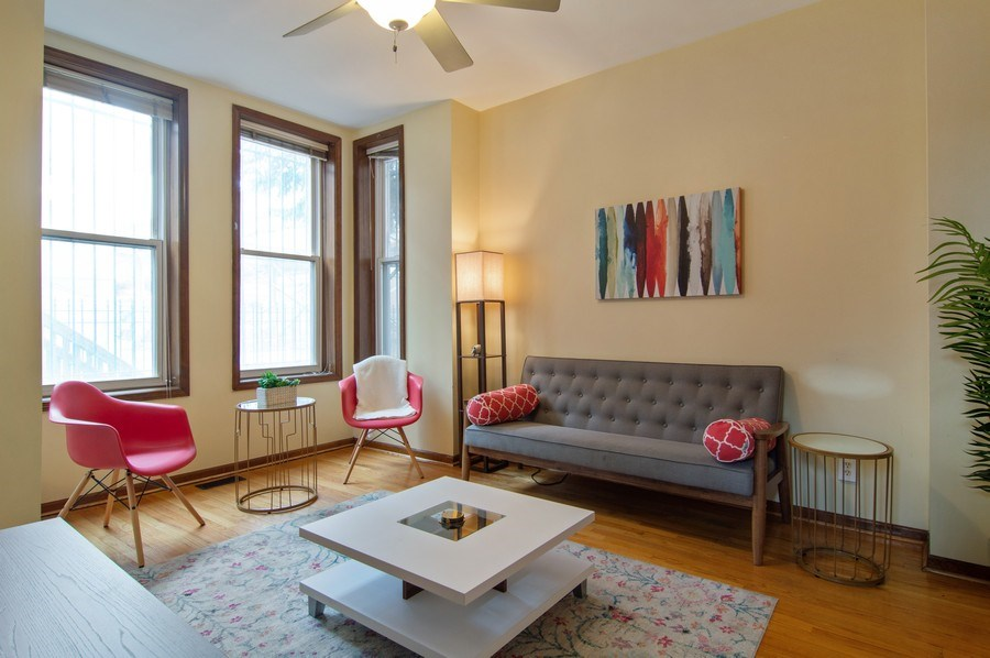 Real Estate Photography - 1625 N. Dayton St., Chicago, IL, 60614 - Unit 1- Living Room