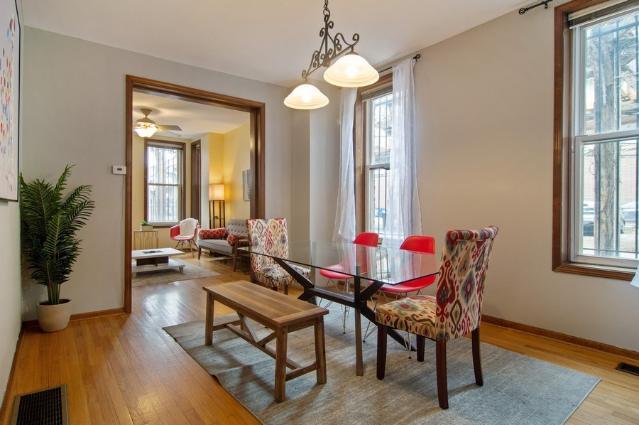 Real Estate Photography - 1625 N. Dayton St., Chicago, IL, 60614 - Unit 1- Dining Room
