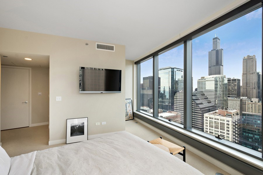 Real Estate Photography - 60 e monroe #3507, Chicago, IL, 60603 - Master Bedroom