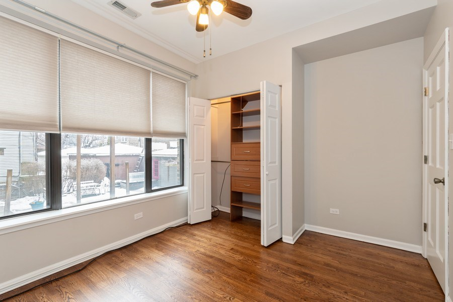 Real Estate Photography - 4742 N Washtenaw, Chicago, IL, 60625 - Bedroom