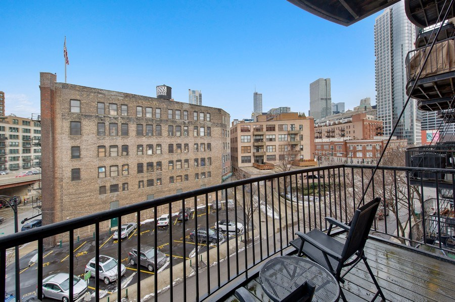 Real Estate Photography - 550 N Kingsbury St, unit 416, Chicago, IL, 60654 - Balcony