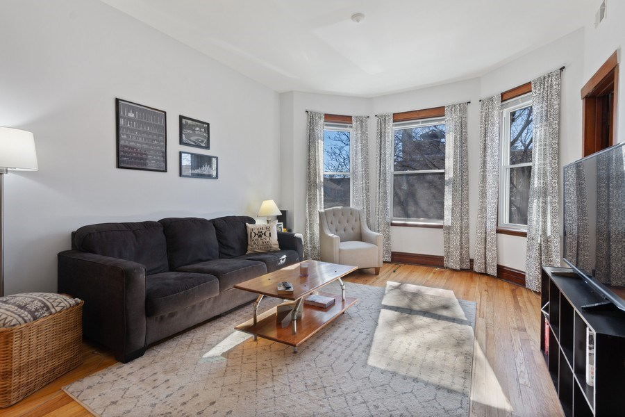 Real Estate Photography - 2058 Hutchinson, Chicago, IL, 60618 - Living Room