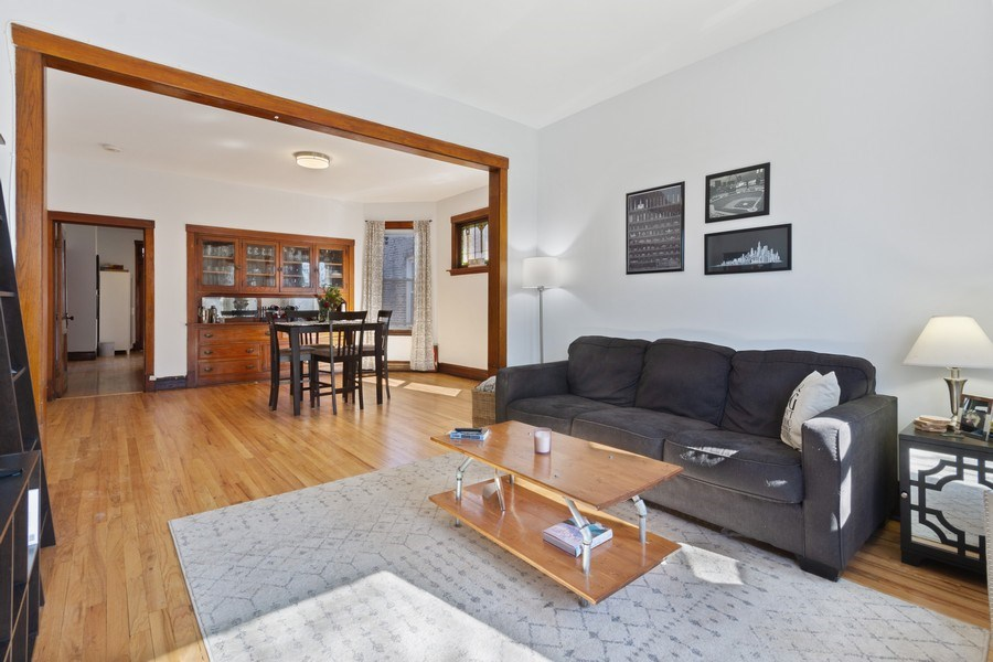 Real Estate Photography - 2058 Hutchinson, Chicago, IL, 60618 - Living Room / Dining Room