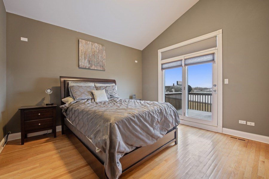 Real Estate Photography - 3046 N Oakley, 3S, Chicago, IL, 60618 - Master Bedroom
