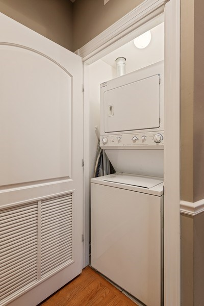 Real Estate Photography - 3046 N Oakley, 3S, Chicago, IL, 60618 - Laundry Closet