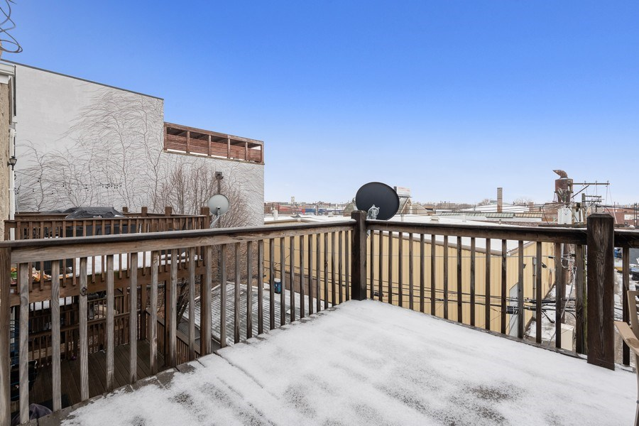 Real Estate Photography - 3046 N Oakley, 3S, Chicago, IL, 60618 - Private Deck