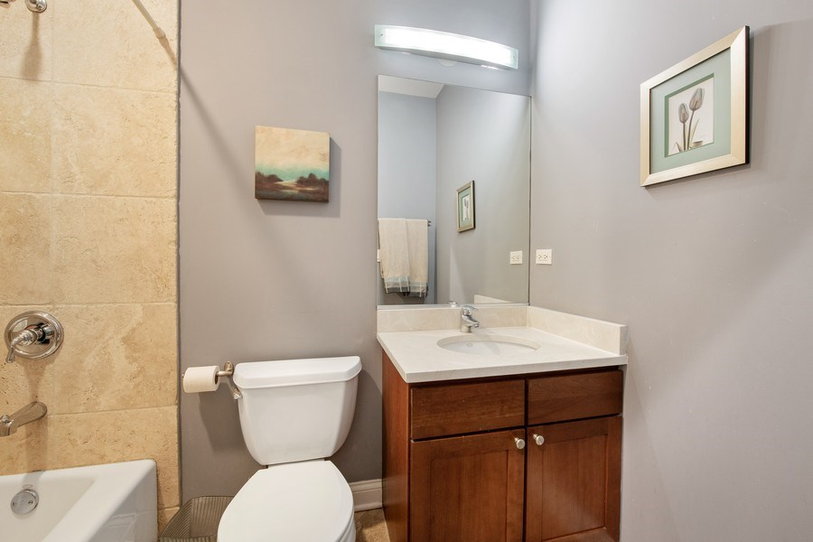 Real Estate Photography - 3046 N Oakley, 3S, Chicago, IL, 60618 - 2nd Bathroom