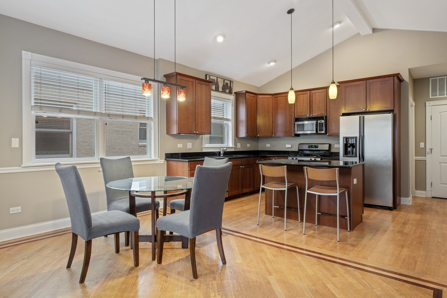 Real Estate Photography - 3046 N Oakley, 3S, Chicago, IL, 60618 - Kitchen / Dining Room