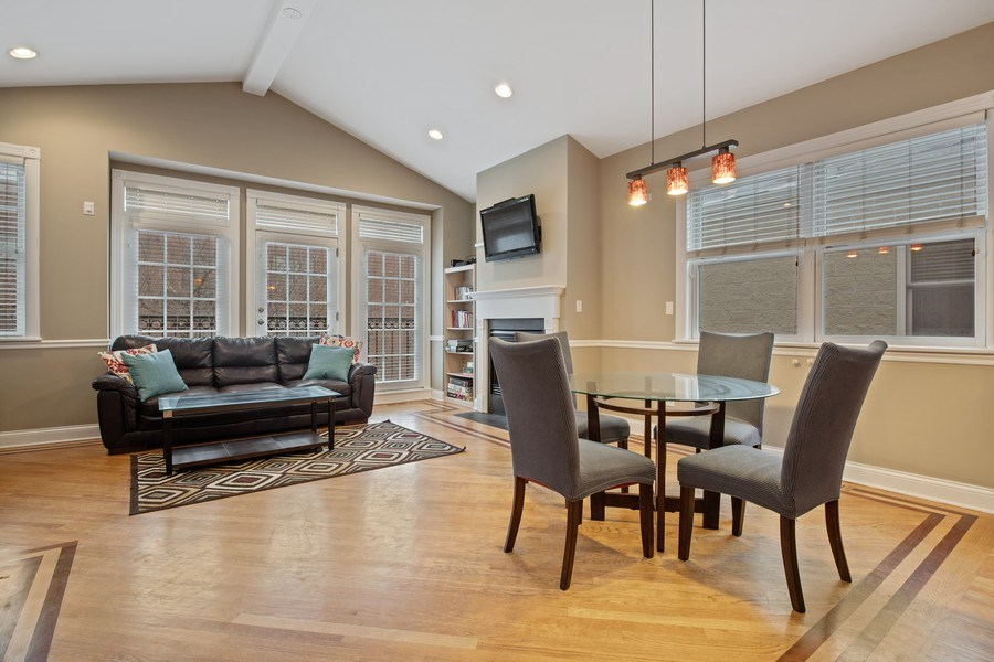 Real Estate Photography - 3046 N Oakley, 3S, Chicago, IL, 60618 - Living Room / Dining Room