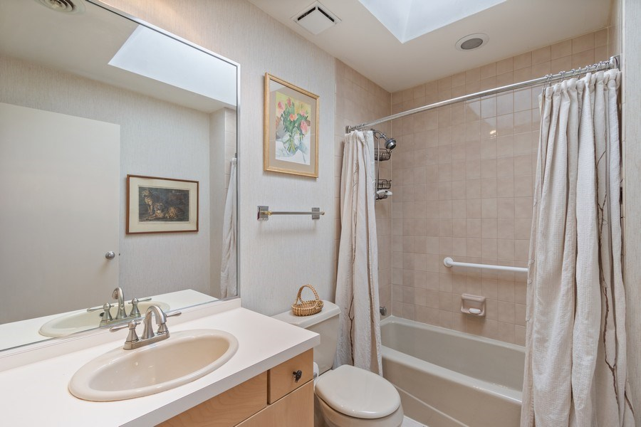 Real Estate Photography - 25130 N Cayuga Trail, Lake Barrington, IL, 60010 - Upstairs Hall Bath
